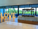 Affordable Wedding Hire Perth - Decorations for Tables / Backdrop / Welcome Sign (Naomi & Chris) | ARTISTIC GREENERY