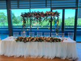For Hire - Rustic Style Bridal Table Centrepiece 180cm (Code: HI0013-180) Rustic Rose Arrangement | ARTISTIC GREENERY