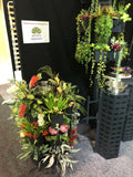 The Downpipe Vertical Garden (at Home Show Perth) 2018 - Variety of Artificial Flowers & Greenery