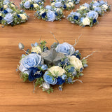 Teardrop Bouquet  - White & Blue - Michelle S