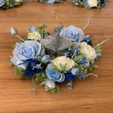 Wedding Table Centrepieces - Light Blue & White - Michelle S