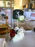 For Hire - Table Number with Flowers 23cm (Code: HI0035) | ARTISTIC GREENERY