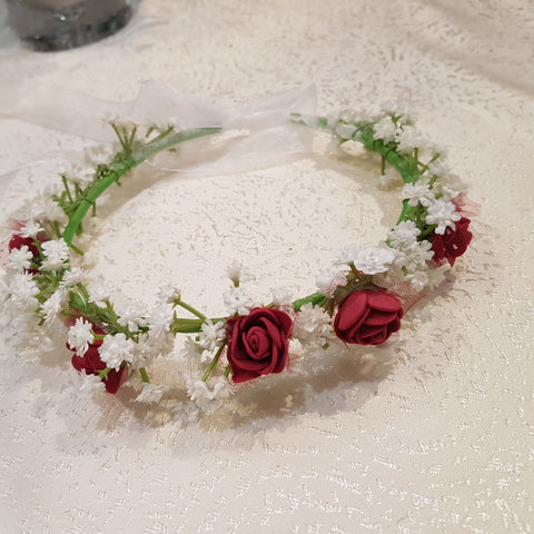 Floral crown made to order with artificial flowers by ARTISTIC GREENERY