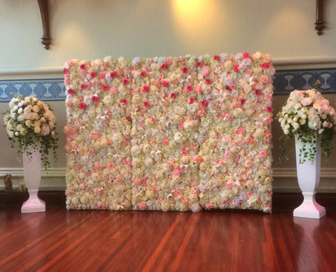 Custom-made Hire Items - Centrepieces for Guests & Flowers Wall (Kim P)