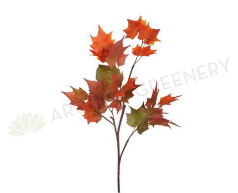 LEA-FI6133RG Maple Leaf Branch Autumn 150cm Red Green