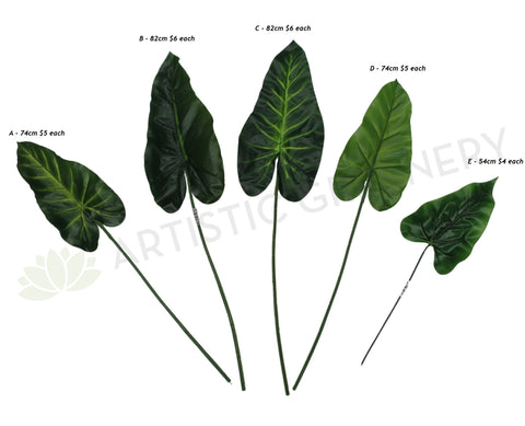 LEA0004 Calla Lily / Elephant Ear Single Leaf