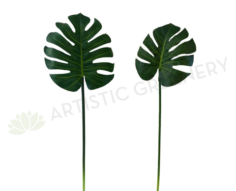 LEA0052 Monstera / Split Philo / Swiss Cheese Plant Single Leaf( Real Touch Quality) 2 Sizes
