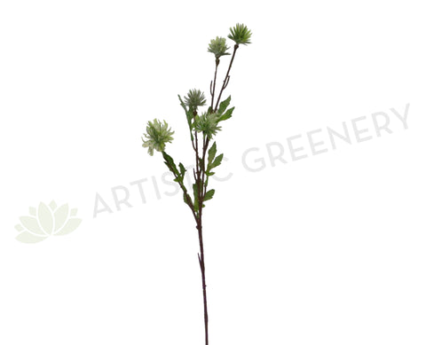 LEA0059 Thistle Greenery Spray 82cm Green
