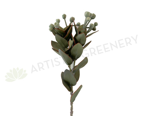 LEA0093 Artificial Tetragona Nut Spray 57cm Green | ARTISTIC GREENERY