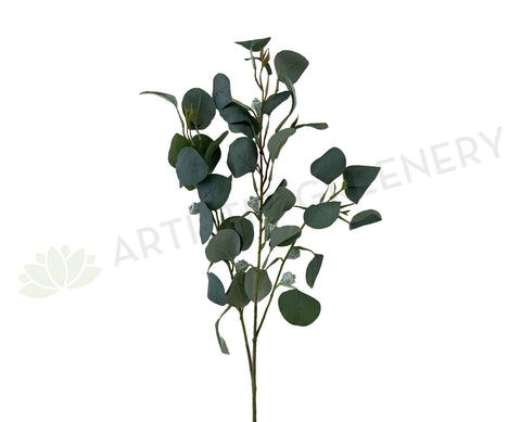 LEA0096 Silver Dollar Eucalyptus Spray with Pods 84cm Australian Native Greenery | ARTISTIC GREENERY