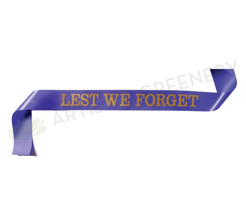 """Lest We Forget"" Ribbon / ANZAC Ribbon 5cm thcik x 80cm long 