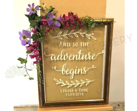 Wedding easel welcome sign