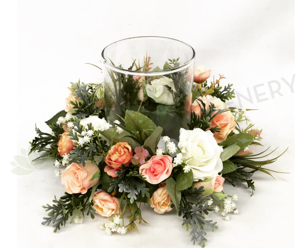 Candle Ring Wreath Wedding Table Centrepieces Natalie L