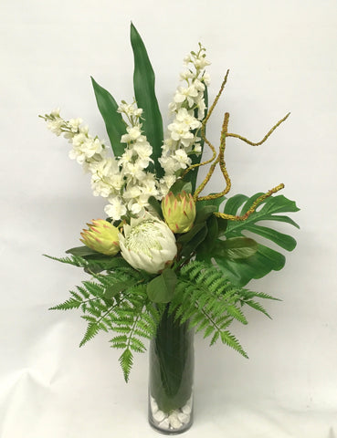 Office Floral Arrangements On Fa1039 Corporate Native Arrangement 110cm Height Perth Office Reception Silk Flowers Fake