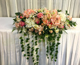 For Hire - Bridal Table Centrepiece (Pink) 100cm