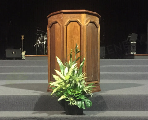 Potters House Church - Greenery Arrangements for Stage