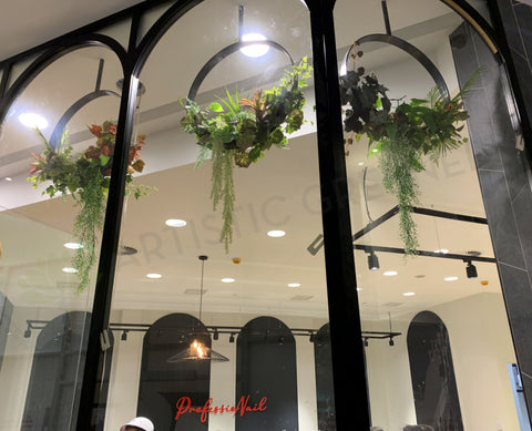 ProfessioNAIL Nail Salon Karrinyup - Hanging Greenery for Display Windows | ARTISTIC GREENERY