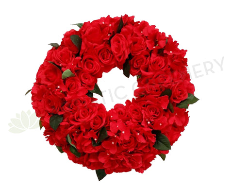Red Floral Wreath 30 / 40 / 50cm