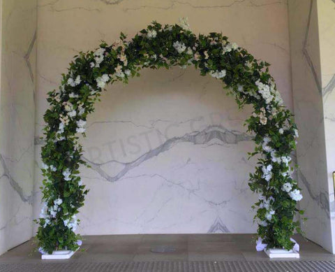 For Hire - Round Arch Decorated With Flowers 250cm Height