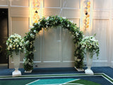 Round wedding arch at Perth Crown Tower supplied by Artistic Greenery
