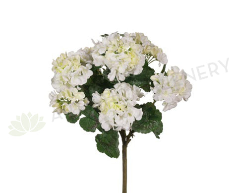 SP-FI6366WH Geranium Bush 45cm White