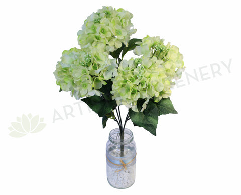 SP0033LGRE Hydrangea Bunch 42cm Light Green