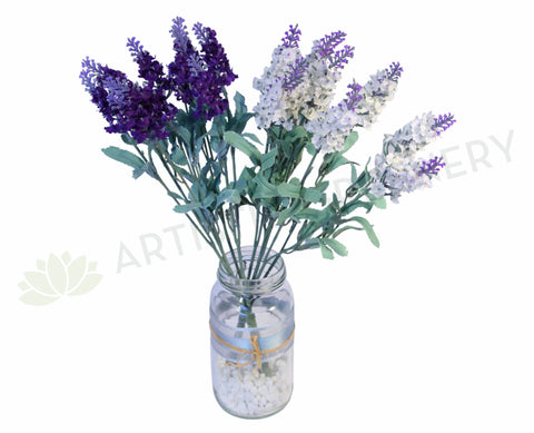 SP0048 Lavender Bunch 36cm Purple / White