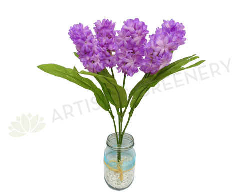 SP0049PUR Hyacinth Bunch 41cm Purple