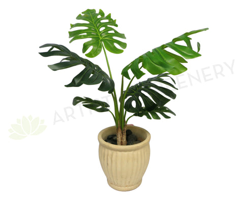 SP0056MED Split Philo Plant Real Touch Leaves 80cm