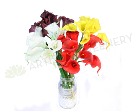 SP0065 Calla Lilly Bunch Real Touch 36cm 9 Stems per bunch $23