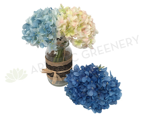 SP0067(i) Hydrangea Bunch 20cm Blue / Light Pink