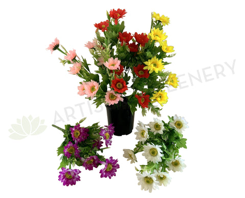 SP0079NEW Gerbera Daisy Bunch 41cm 5 Colours - CLEARANCE