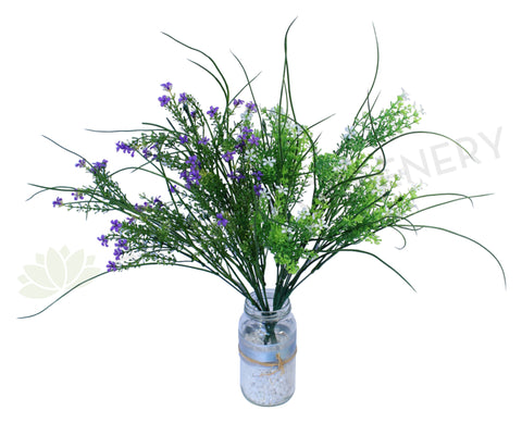 SP0082 Wild Flower Bush 40cm Purple / White