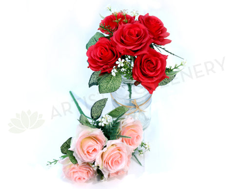SP0104 Rose Bunch 5 Flowers 25cm