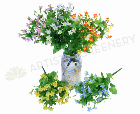 SP0106 Wild Star Flowers Bunch 30cm 5 Colours