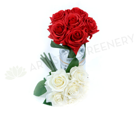 SP0107 Rose Bunch Real Touch 23cm