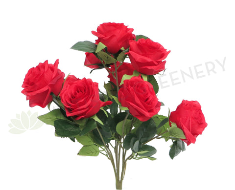 SP0110RED Rose Bouquet 43cm Red