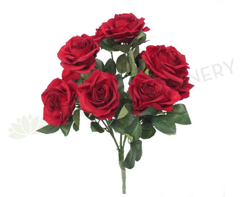 SP0110 Rose Bunch 43cm Deep Red