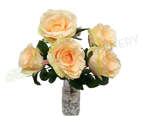 SP0111 Rose Bunch 40cm Light Orange