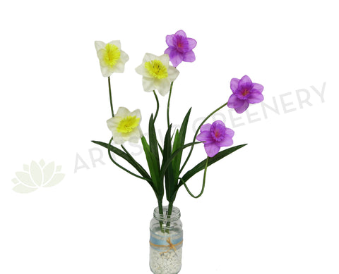 SP0118 Narcissus Flower Spray 3 Flowers 50cm