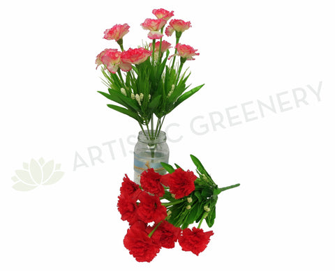 SP0120 Carnation 9 heads 40cm