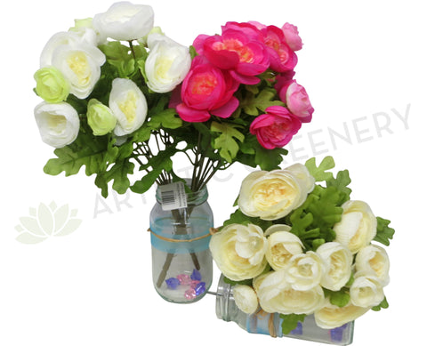 SP0128 Ranunculus Bunch 33cm 3 Colours