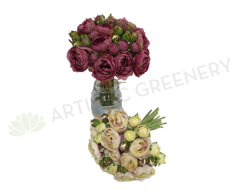 SP0142 Mini Ranunculus Bunch with buds 25cm