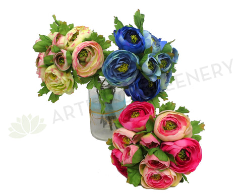 SP0162 Ranunculus Bunch 24cm 3 Colours