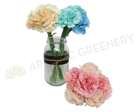 SP0164 Carnation Bunch 22cm Blue / Pink / Orange