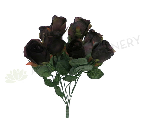 SP0171 Rose Bunch 35cm Dark Purple