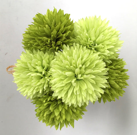 Sp0198 button mum pom pom chrysanthemum disbud bunch 20cm lime sp0198 button mum pom pom chrysanthemum disbud bunch 20cm lime green mightylinksfo