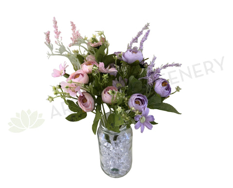 SP0282 Small Ranunculus & Cosmos 29cm (Pastel Colours) Lilac / Pink