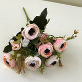 SP0289 Small Pink Ranunculus Bunch with Black Centre 30cm