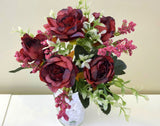 SP0290 Ranunculus Bunch 32cm Burgundy